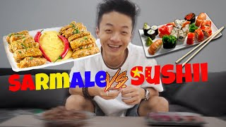 SUSHI VS SARMALE ! (ERA SA VOMIT)🤢