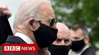 Trump and Biden trade barbs over wearing a mask - BBC News