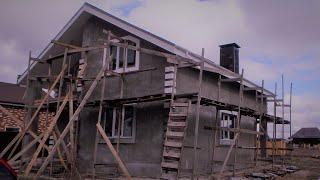 Микрорайон серебряный бор, Дом из газосиликата. Отопление первого этажа только теплыми полами.