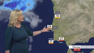 Weather images - Portugal map Algarve outlook & European temps (UK) - BBC weather - 17th May 2021 screenshot 5