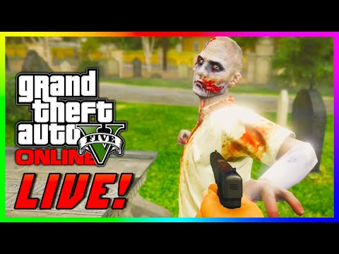 GTA 5 Online - SCARY Zombie Apocalypse! First Person Zombies Survival Gameplay Live! (GTA 5 PS4)
