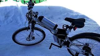 Обзор китайского электро велосипеда с Али  Overview of Chinese electric bike with Aliexpress