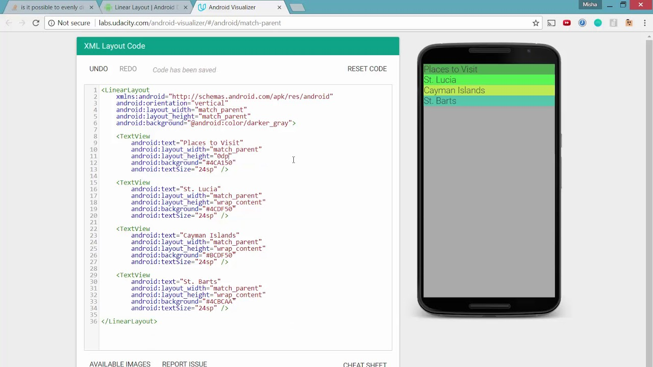 How to Evenly Distribute Elements Vertically or Horizontally in Linear  Layout - Android