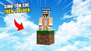 Minecraft NHƯNG SINH TỒN CHỈ TRÊN 1 BLOCK !!!