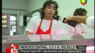 La feria minorista del Mercado Central en América Noticias (03/02/2010)