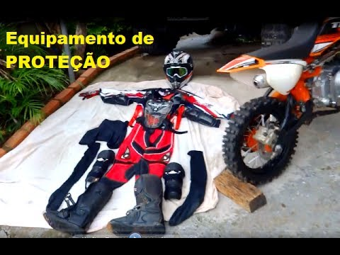 EQUIPAMENTOS DE PROTEÇÃO DE MINI MOTO DE TRILHA (Lucas Leite)