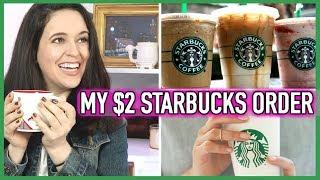 My $2 Starbucks Order // How To Save Money At Starbucks // Starbucks Coffee Hack