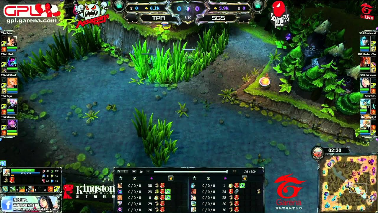 GPL 超級聯賽 第一季 例行賽 #10 TPA vs. SGS - YouTube