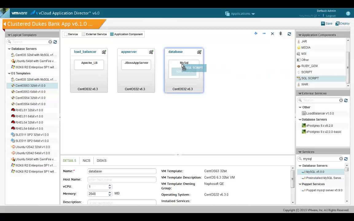 Vmware vcac 6x configuring application blueprints part 1 new vmware vcac 6x configuring application blueprints part 1 new components malvernweather Image collections