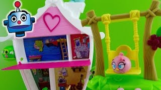 Angry Birds Stella Casita del Arbol Tree House Playset Game - Juguetes de Angry Birds