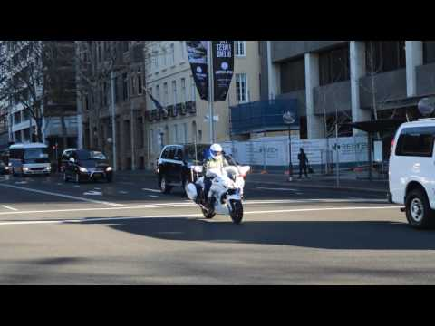 NSW Police - Motorcade For U.S. Vice President Joe Biden