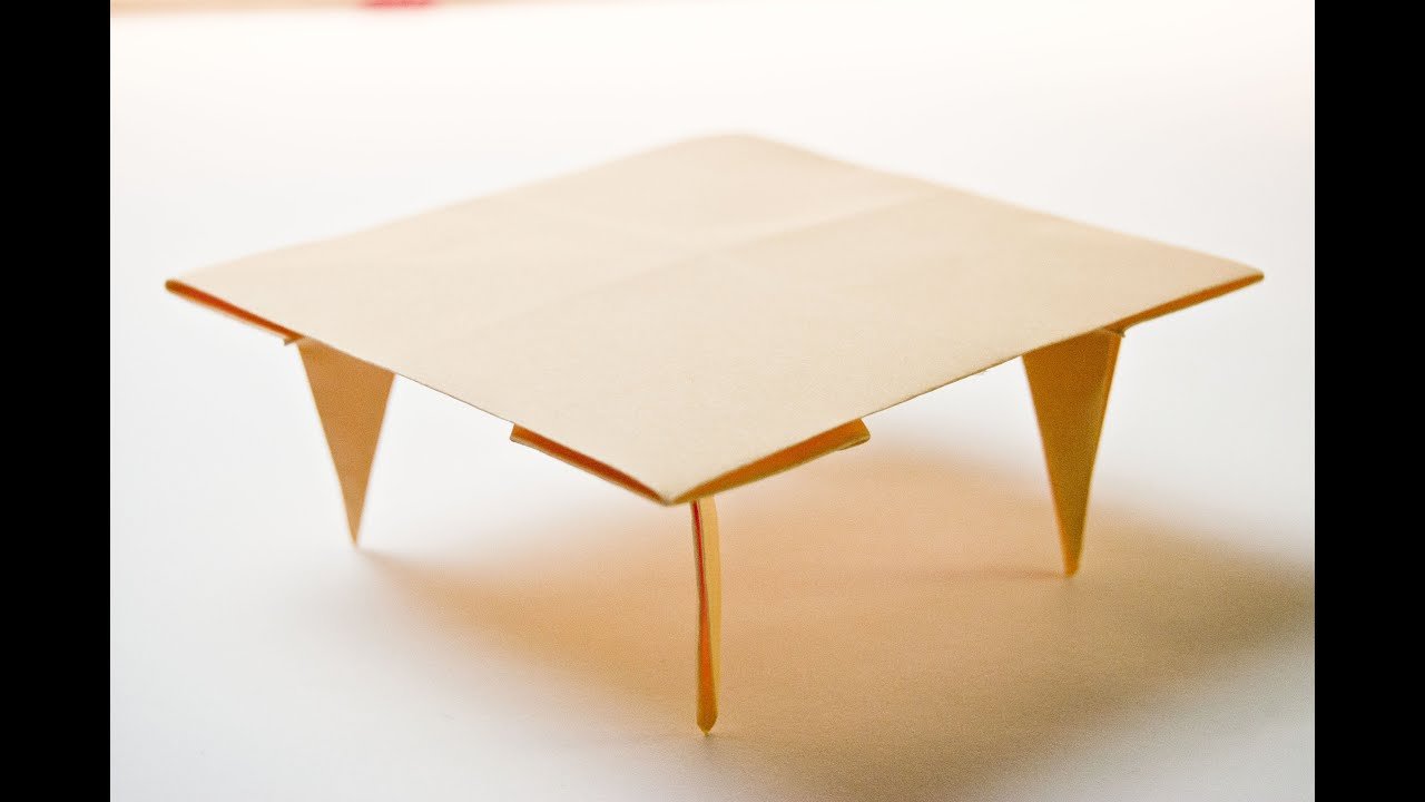 how to make a paper table origami - YouTube - photo#4