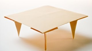 how to make a paper table origami