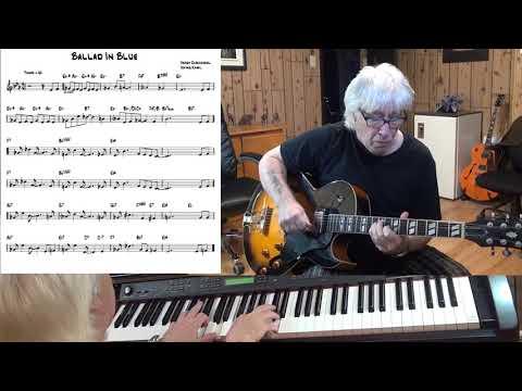 Ballad In Blue  Jazz guitar & piano   Hoagy Carmichael & Irving Kahal