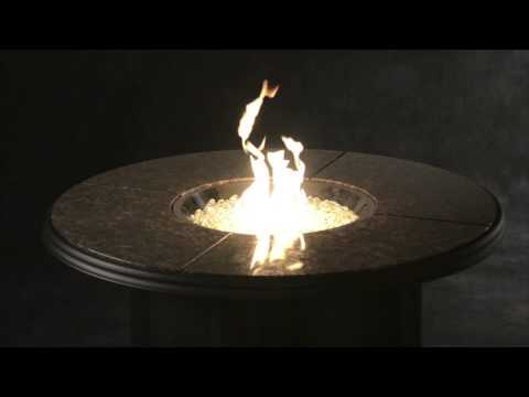 Outdoor Great Room Grand Colonial Fire Pit Table With Propane/Natural Gas Burner