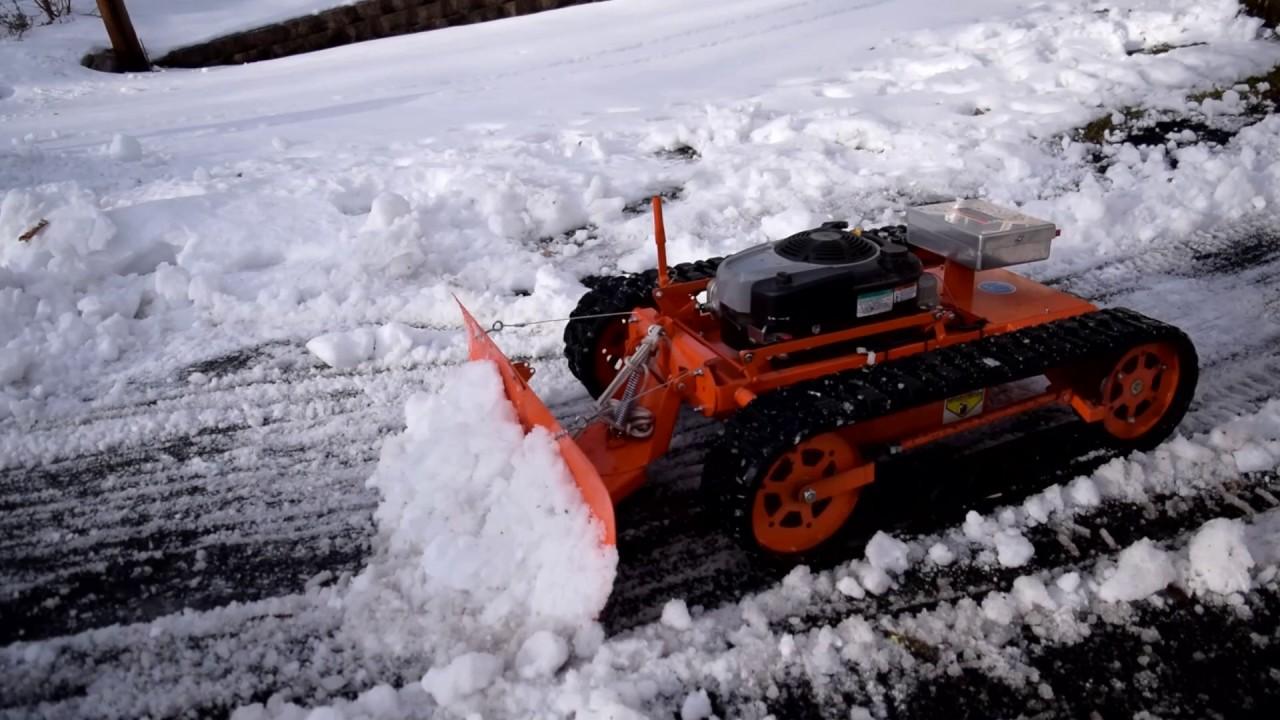 Remote Control Snow Plow Attachment Youtube