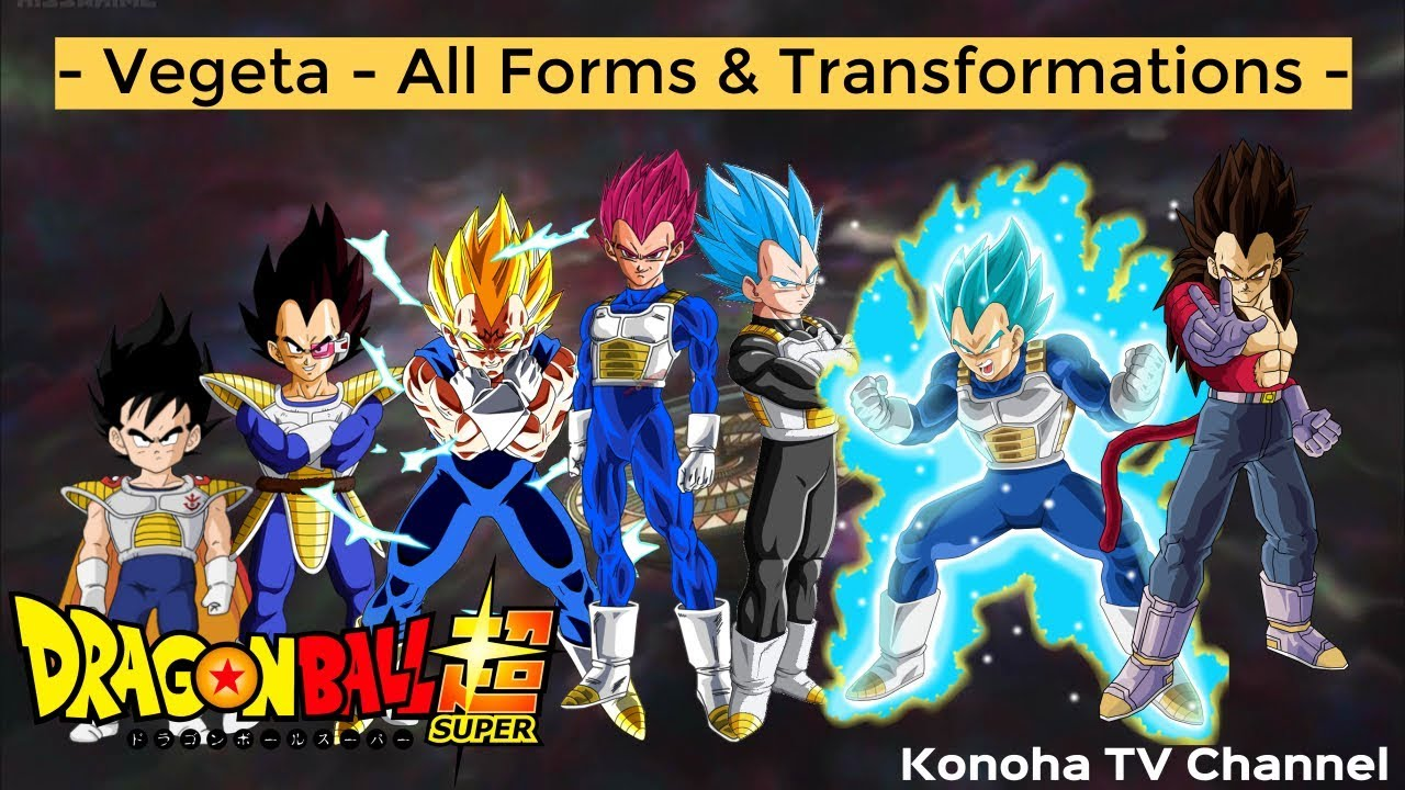 Vegeta all forms and transformations update beyond super saiyan blue youtube - Vegeta all forms ...
