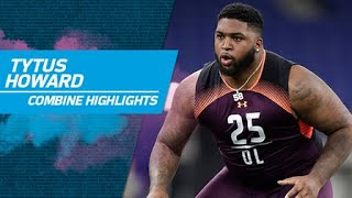 Alabama State offensive lineman Tytus Howard's full 2019 NFL Scouting Combine workout