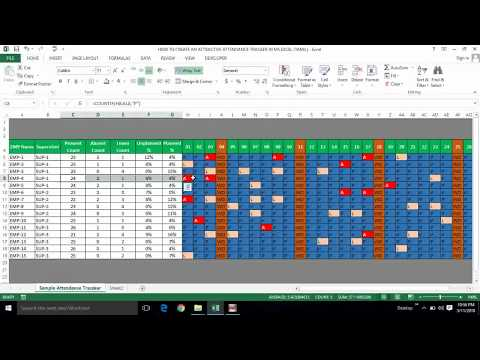 HOW TO MAKE AN ATTRACTIVE ATTENDANCE TRACKER IN MS EXCEL (TAMIL) | Kallanai YT
