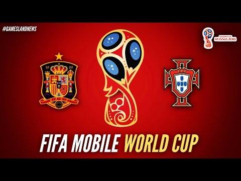 ESPAÑA VS PORTUGAL FIFA WORLD CUP RUSIA 2018 | FIFA Mobile | iPad Pro Graphic | Gamesland