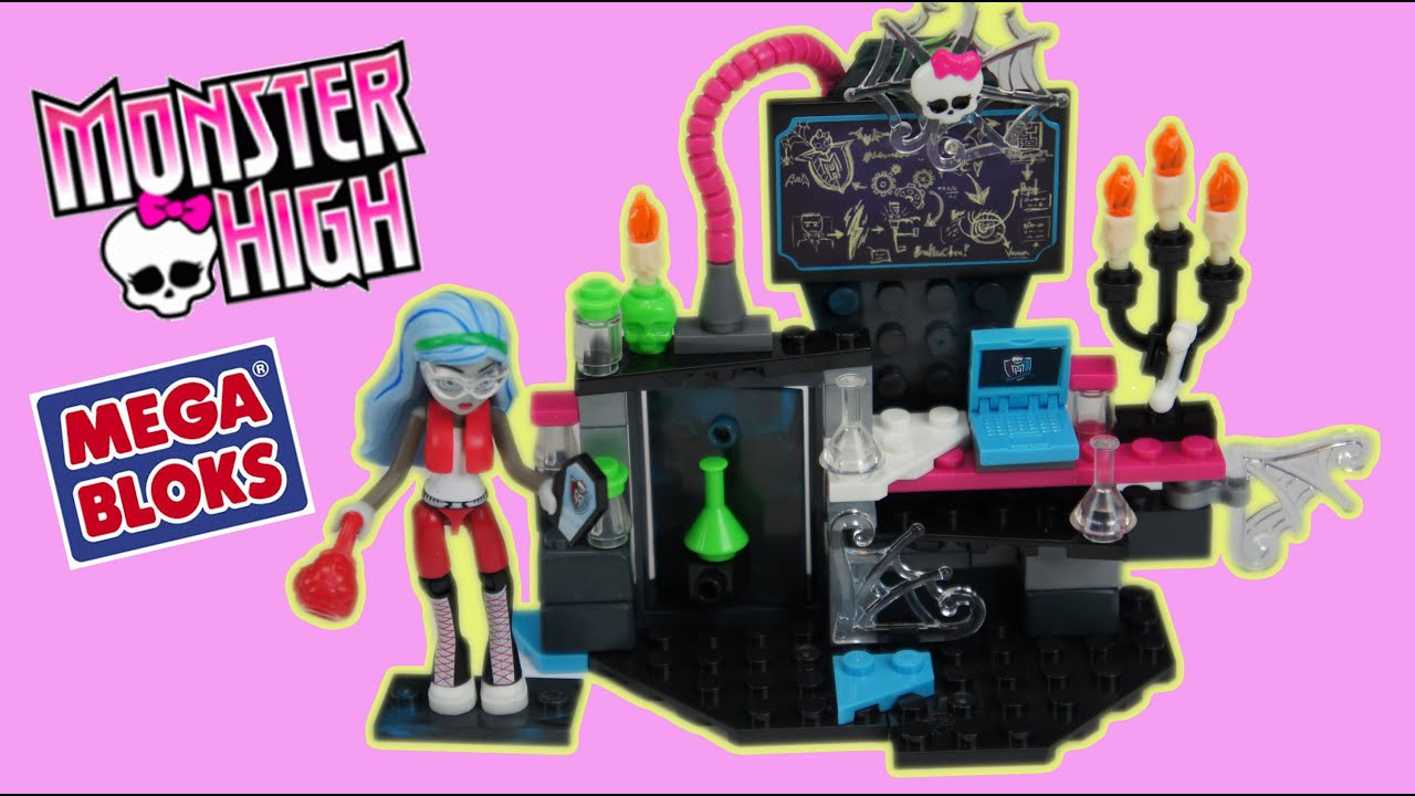 Monster High Mega Bloks Ghoulia Creeperific Lab Playset Review Youtube