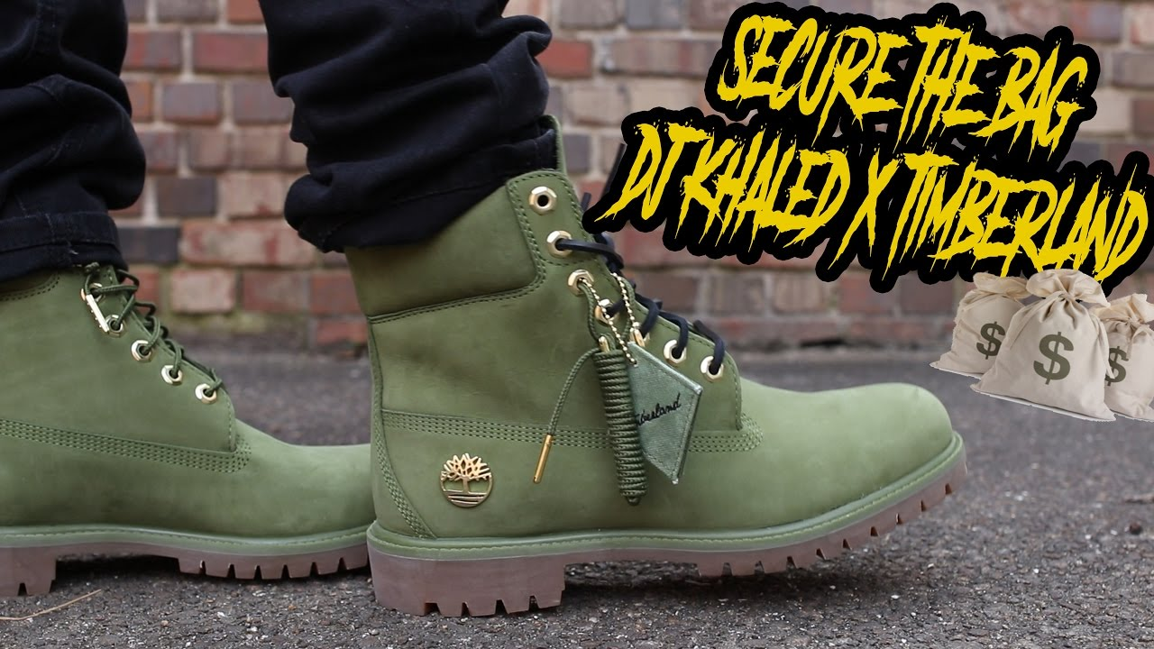 DJ KHALED X TIMBERLAND SECURE THE BAG REVIEW AND ON FOOT