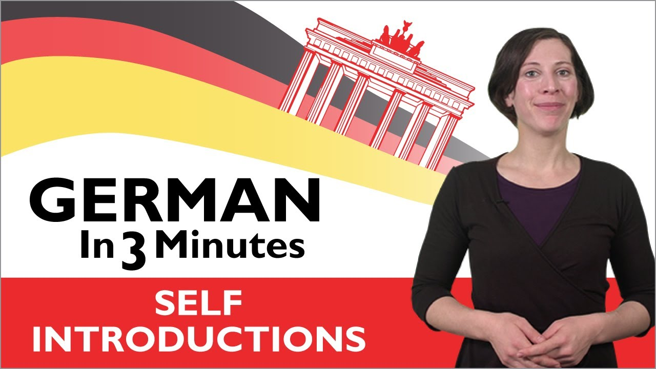 Learn german german in three minutes how to introduce yourself learn german german in three minutes how to introduce yourself in german youtube kristyandbryce Choice Image