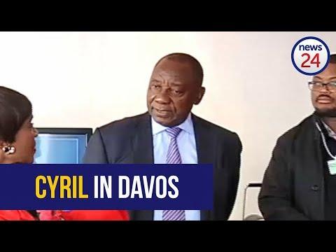 WATCH: SA deputy president Cyril Ramaphosa arrives in Davos