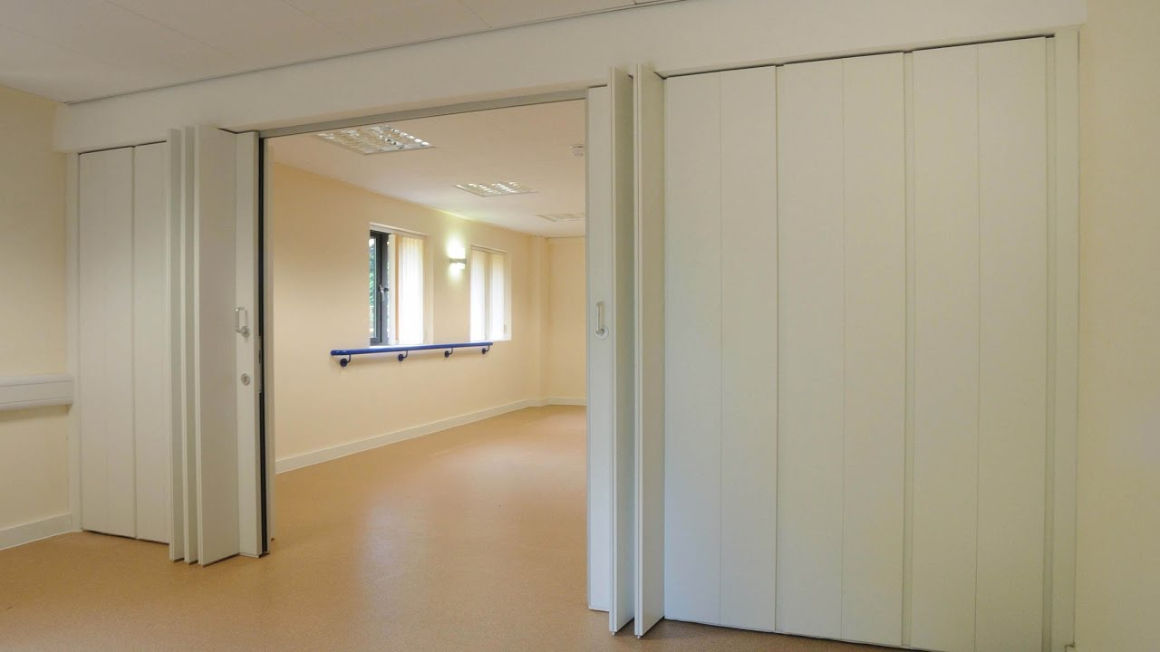 Sliding partition wall for home ideas youtube for Sliding door partition wall