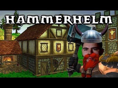 HammerHelm - RPG, CIDADES E ANÕES!!! (Gameplay / PC / PTBR) HD