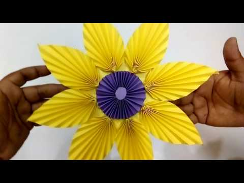 Paper Flower - Easy Wall Decoration Ideas