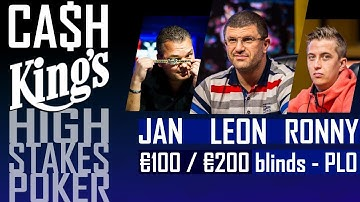 Cash Kings | High Stakes poker | 100-200€ blinds Omaha | Kings Casino August 15, 2017