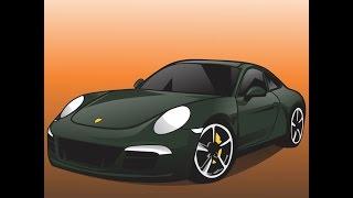 HOW TO DRAW A CAR |  PORSCHE
