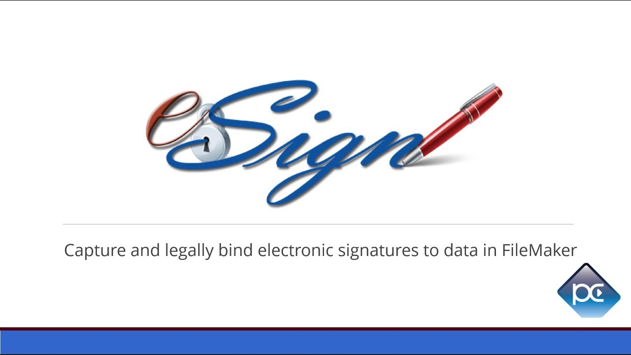 eSign plug-in - FileMaker Electronic Signatures - Productive Computing
