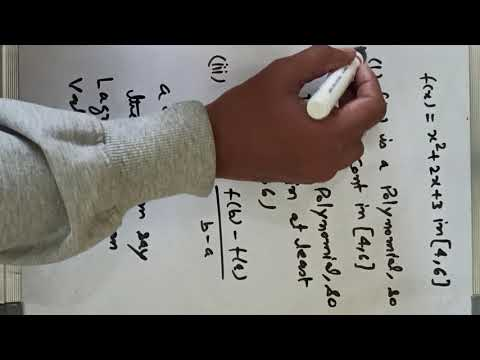Lagrange Mean Value Theorem With An Example_XII_IIT