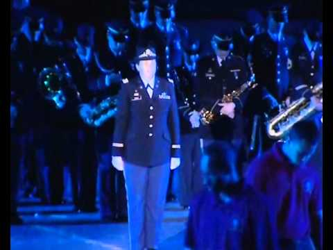 """Red Square French Army Band & Mireille Mathieu & US Army Band """"Спасская башня"""""""
