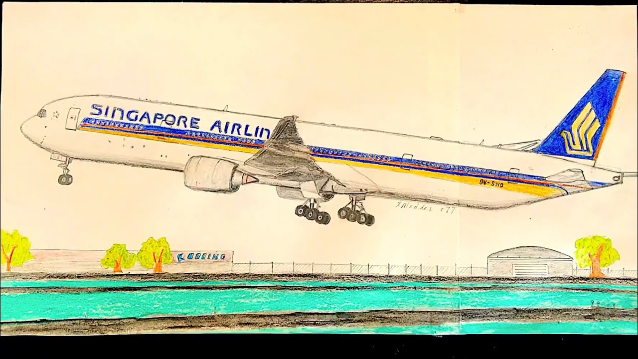 How To Draw Singapore Airlines