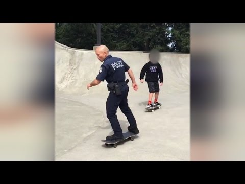 Why This Police Officer Skateboards With Teens While On Patrol