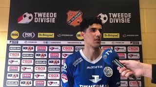 Oussama Bouyaghlafen na afloop van FC Volendam-FC Den Bosch