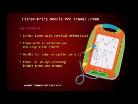 Fisher-Price Doodle Pro Travel Green|Kids Toys
