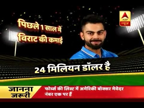 Forbes lists Virat Kohli as world's most RICHEST cricketer