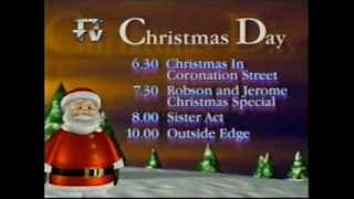 Christmas Day on ITV Tyne Tees 1995 evening line up