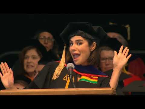 Diane Guerrero receiving an honorary doctorate of laws