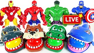 #2 Marvel Avengers Hulk, Spider Man and terrible crocodile, dinosaur surprise egg | DuDuPopTOY