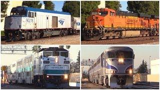 AMTRAK BNSF METROLINK Trains in Santa Fe Springs, CA (October 27th, 2017)
