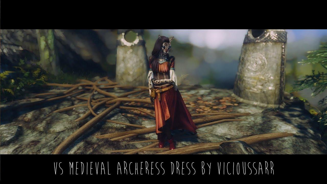 Skyrim Mod | VS Medieval Archeress Dress by Skajrim