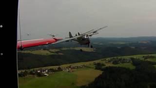 Cessna O-1 L19 Flying Bird Dog Formation at European Birddog Meeting Wershofen Germany 2016