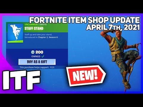 Fortnite Item Shop *NEW* STAFF STAND EMOTE! [April 7th, 2021] (Fortnite Battle Royale) - I Talk