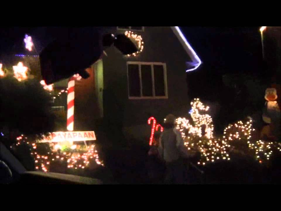 candy cane lane christmas lights seattle youtube