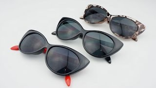 Леопардовые солнцезащитные очки.С алиэкспресс. Распаковка и обзор посылок из Китая.